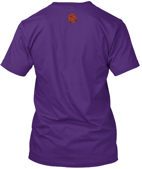 Let's Try Not To Be Too Edgy Here. Purple T-Shirt Back