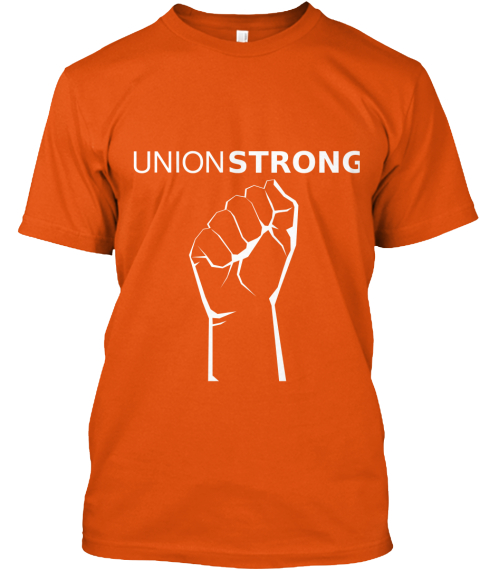 Strong Union Orange T-Shirt Front