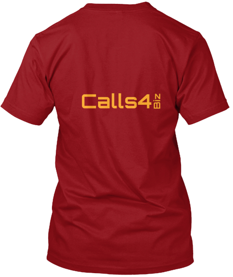 Calls4 Biz Canvas Red T-Shirt Back
