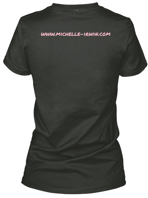 Www.Michelle Irwin.Com Black T-Shirt Back