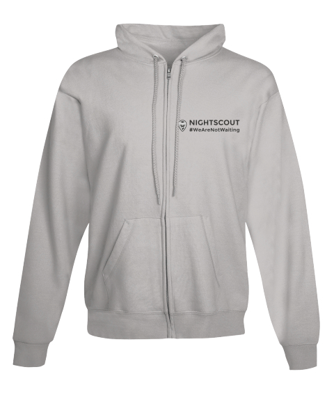 Nightscout Zip Up Hoodie Campaign Light Steel Sweatshirt Front
