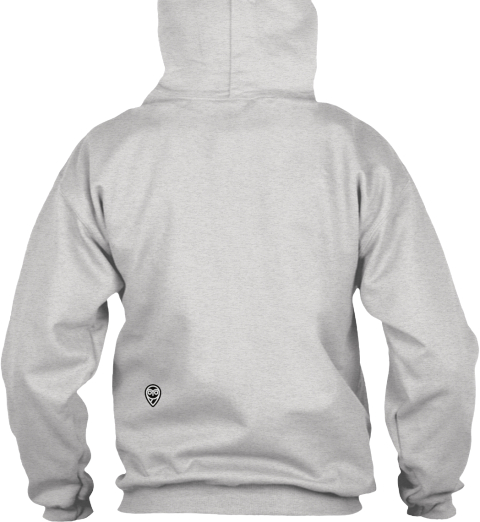 Nightscout Pullover Hoodie Campaign Ash Grey Sweatshirt Back