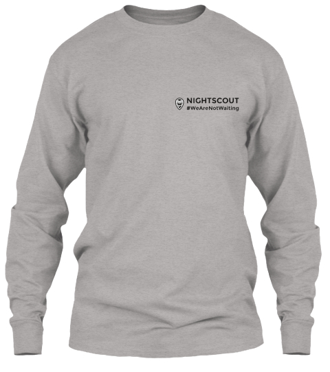 Nightscout Long Sleeve Campaign Light Steel Long Sleeve T-Shirt Front
