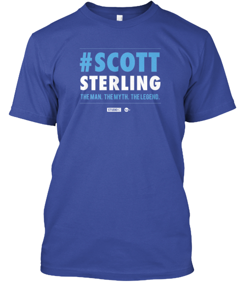 Scott Sterling   Limited Edition Deep Royal T-Shirt Front