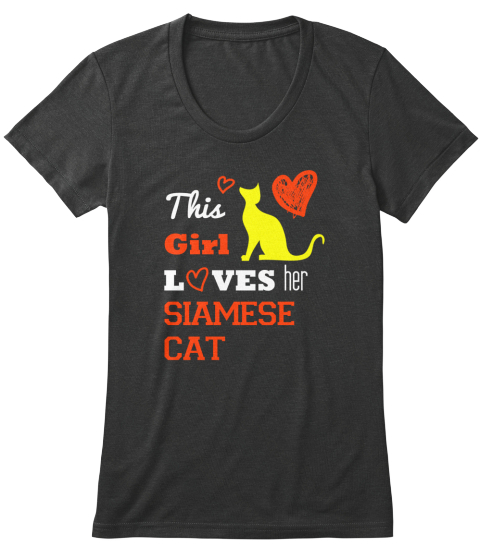 This Girl Loves Her Siamese Catcat Tee Vintage Black Women's T-Shirt Front