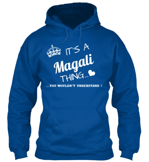 Magali Thing (Limited Edition) Royal Sweatshirt Front