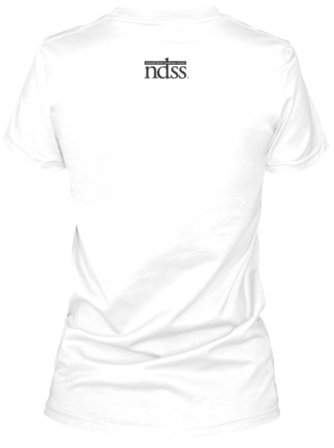 Ndss #Be Your Tee: Tweens,Teens And Adults White T-Shirt Back