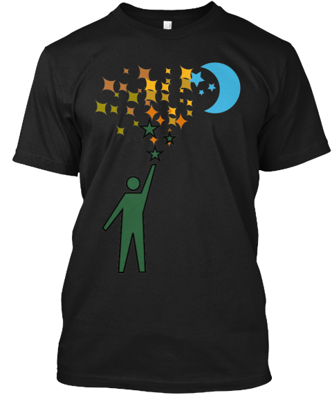 Reach For The Stars Black T-Shirt Front