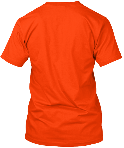 Washington Tornado Relief Orange T-Shirt Back
