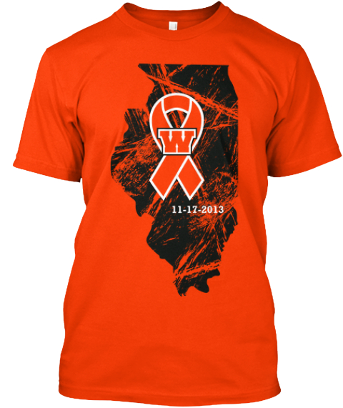 Washington Tornado Relief Orange T-Shirt Front