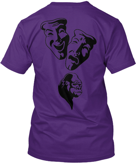 Freedom Purple T-Shirt Back