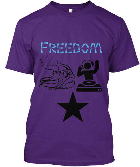 Freedom Purple T-Shirt Front