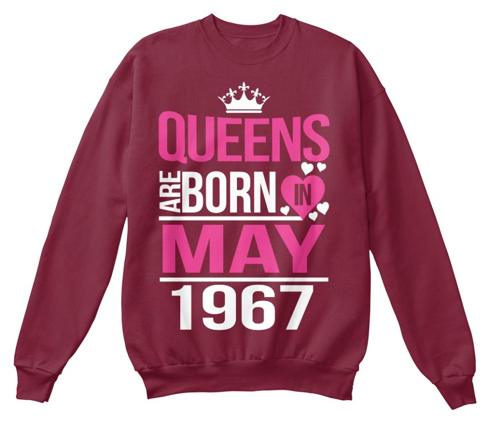 1967 mai naissent durables standard shirt unisexe reines en Des Sweat qIXHBZw