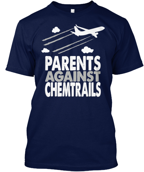 Parents Against Chemtrails Navy T-Shirt Front