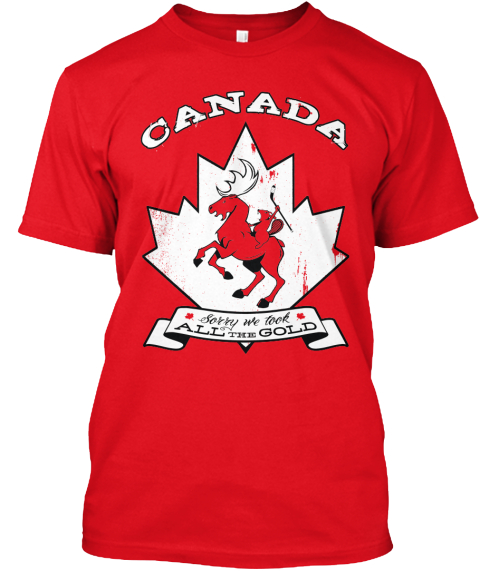 Canada Best Hockey Red T-Shirt Front