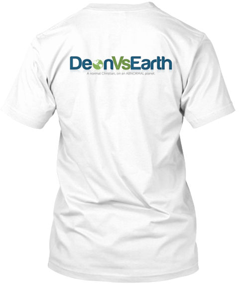 Deon Vs Earth 1 White T-Shirt Back