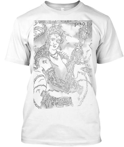Camiseta Playera Con Dibujo White Camiseta Front