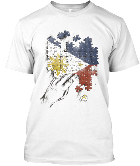 Empathy For Philippines White T-Shirt Front