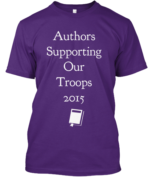 Authors Supporting Our Troops 2015 Purple T-Shirt Front