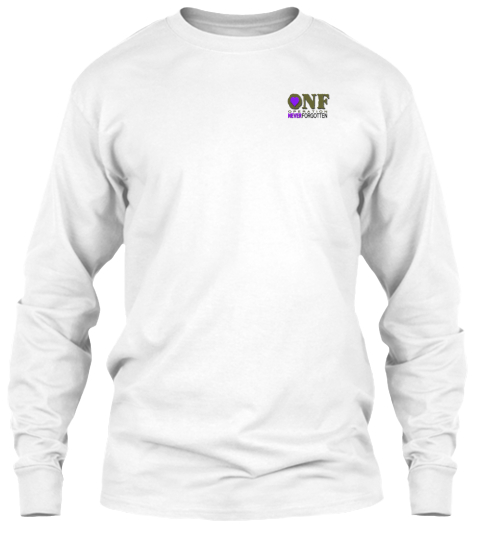Not Disorder White Long Sleeve T-Shirt Front