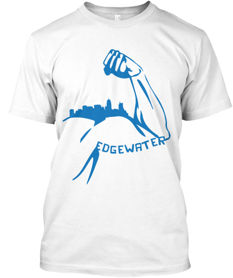 Edgewater Strong Relief Tshirt   White White T-Shirt Front