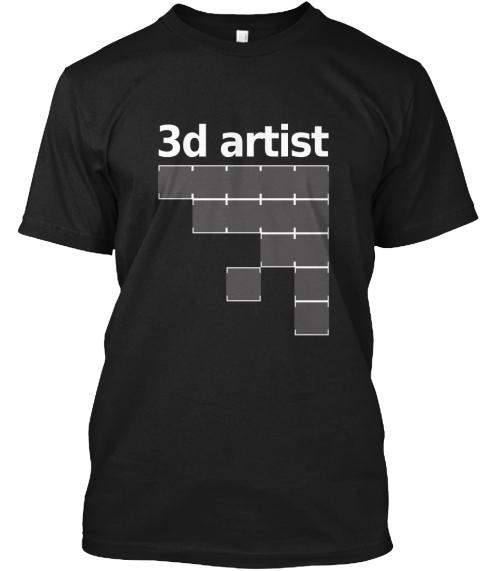 3 D Artist Tee Black T-Shirt Front d6755614d