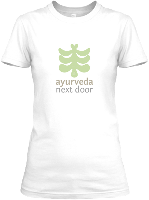 Ayurveda Next Door White Women's T-Shirt Front