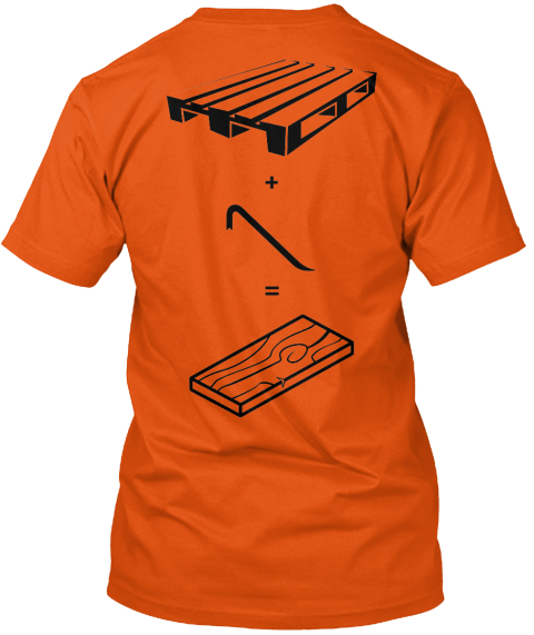 + = Orange T-Shirt Back