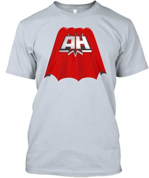 Actionhero T Shirts New Silver T-Shirt Front