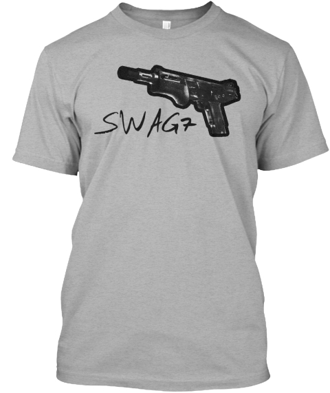 Swag7 Shirt For Cs:Go Fans! Athletic Heather Camiseta Front
