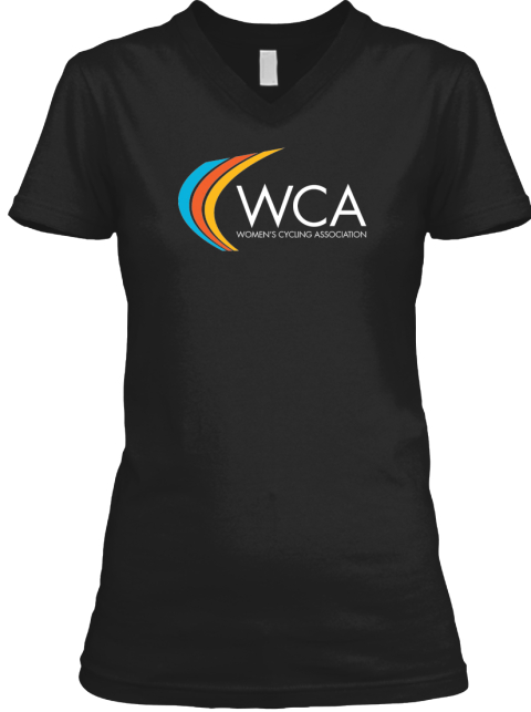 Women's Cycling Association Tees Black T-Shirt Front