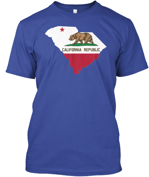 California Republic Deep Royal T-Shirt Front