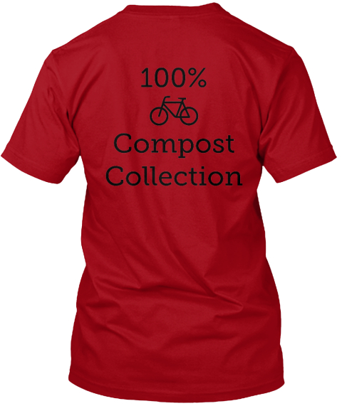 100%           Compost Collection  Deep Red T-Shirt Back