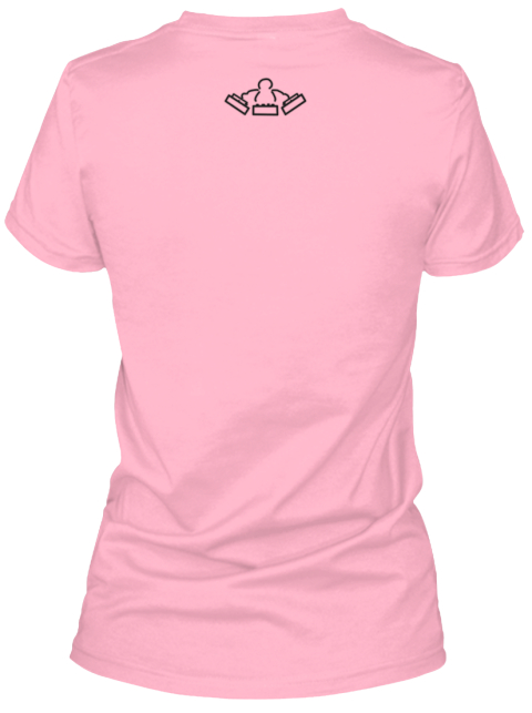 The 1200 Warriors Logo One Ladies Tee Pink Women's T-Shirt Back