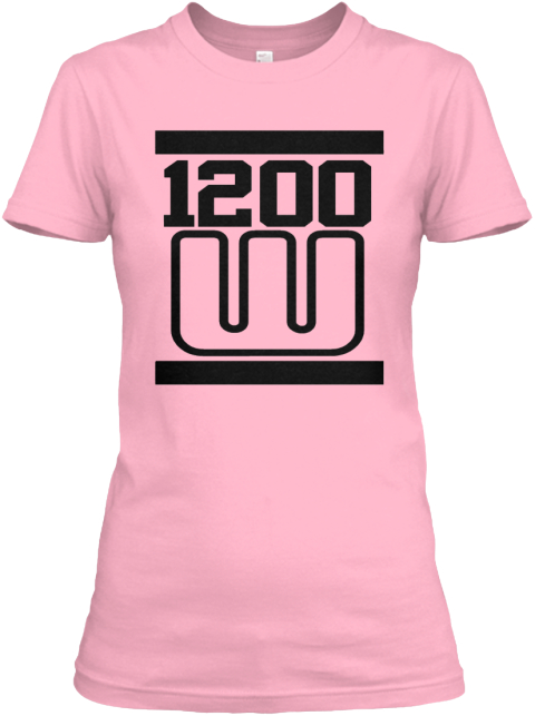 The 1200 Warriors Logo One Ladies Tee Pink Women's T-Shirt Front