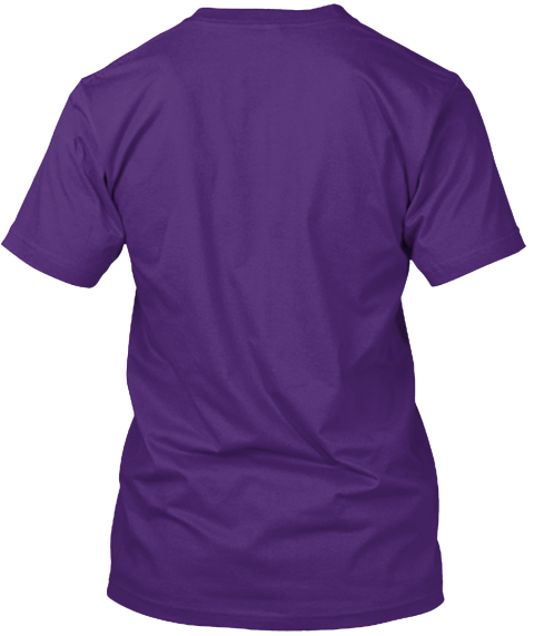 Moebius Syndrome Awareness   Ozzie Style Purple T-Shirt Back