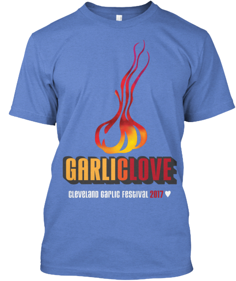 Cleveland Garlic Festival 2017 T Shirt Heathered Royal T-Shirt Front