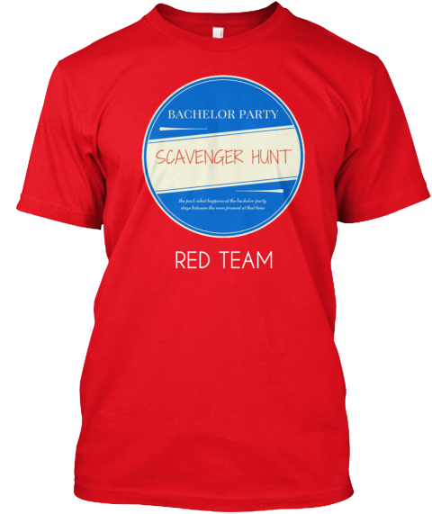 460b3154 Bachelor Party Scavenger Hunt - RED TEAM Products from Bachelor ...