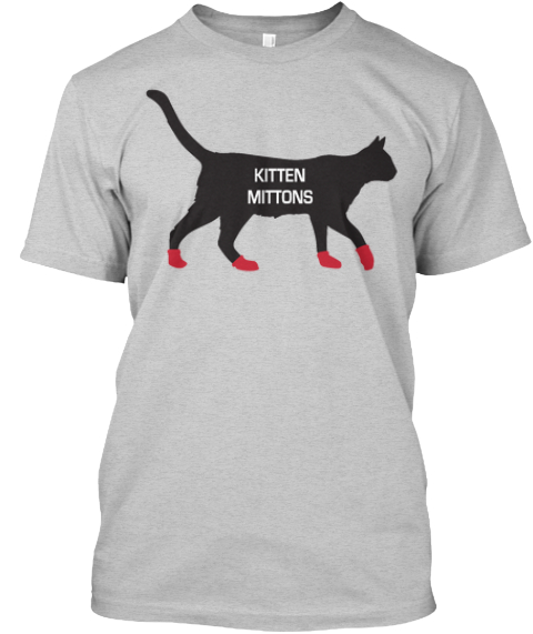 Kitten Mittons Shirt Light Steel T-Shirt Front