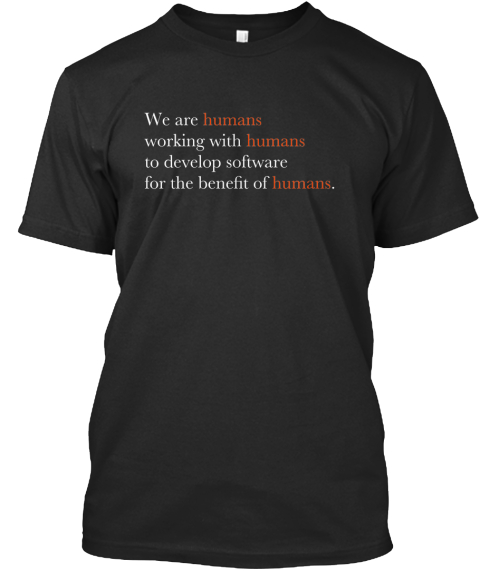 Humane Development (The Shirt) Black T-Shirt Front