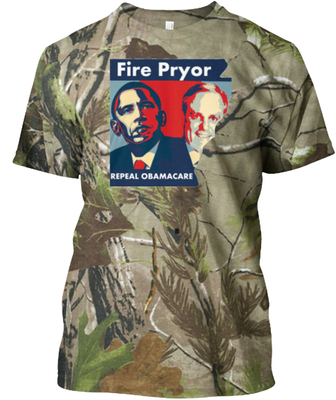 Fire Obama's Pryor Limited Edition Cammo Camouflage áo T-Shirt Front