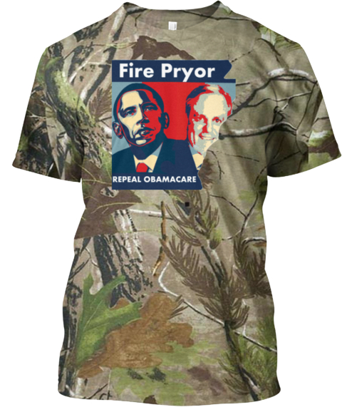 Fire Obama's Pryor Limited Edition Cammo Camouflage T-Shirt Front
