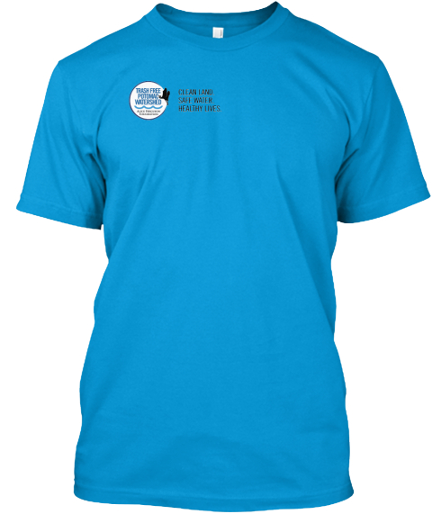 27th Annual Potomac Cleanup T Shirts Teal T-Shirt Front
