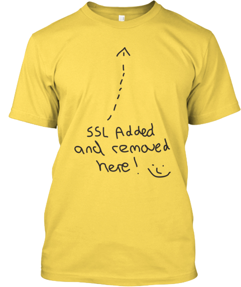 Ssl Added And Removed Shirts Yellow T-Shirt Front