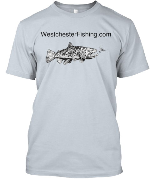 Westchester Fishing.Com New Silver T-Shirt Front