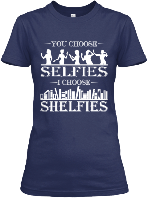 **Limited Edition Shelfies** Navy Women's T-Shirt Front