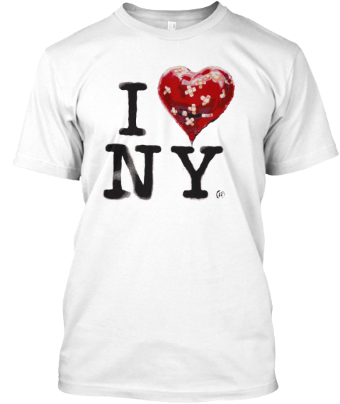 Banksy's Nyc Residency. White T-Shirt Front