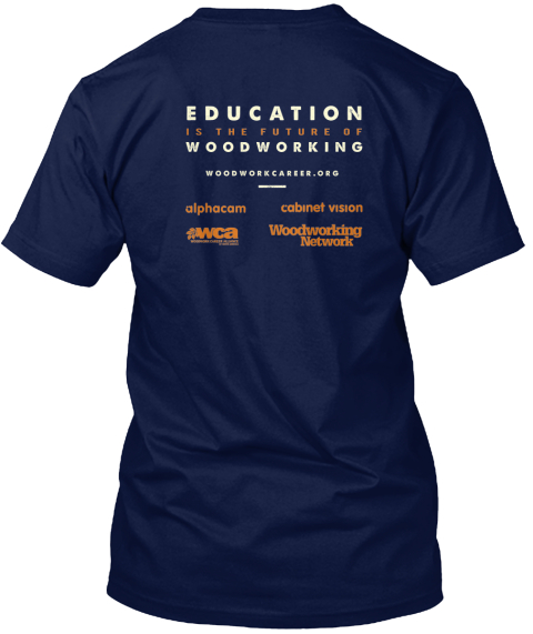 I Heart Woodworking Navy T-Shirt Back