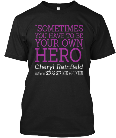 Limited Edition   Cheryl Rainfield Black T-Shirt Front
