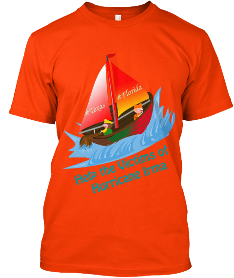 Stay Strong Texas And Florida  Orange T-Shirt Front